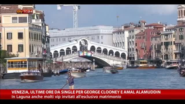 Venezia, ultime ore da single per Clooney e Amal Alamuddin