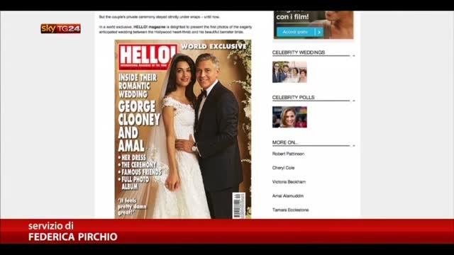 Nozze Clooney, ecco le foto di Amal in abito da sposa