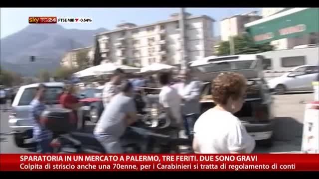 Sparatoria in un mercato a Palermo: tre feriti, due gravi