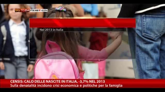 Censis: calo delle nascite in Italia, -3,7% nel 2013