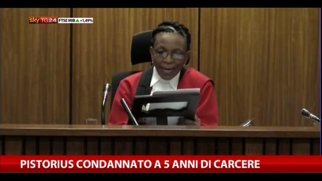 Pistorius condannato: la lettura della sentenza
