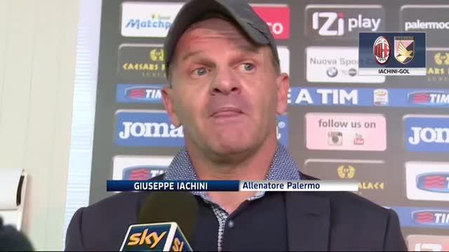 """""""Quando al Milan segnai io"""", Iachini ricorda l'altro Palermo"""