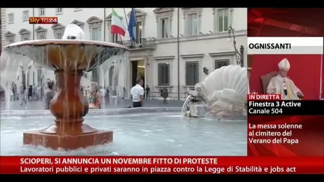 Scioperi, si annuncia un novembre fitto di proteste