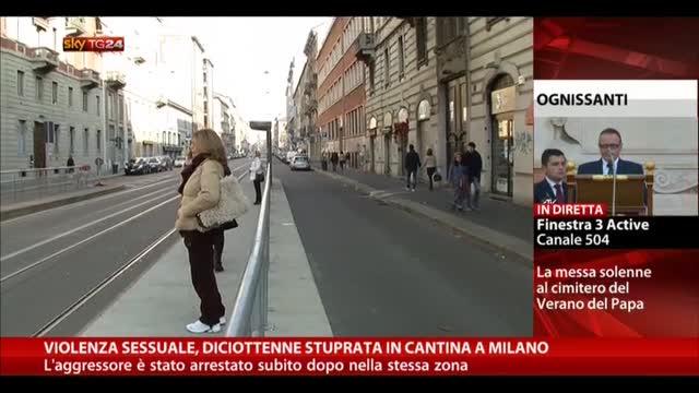 Violenza sessuale, diciottenne stuprata in cantina a Milano