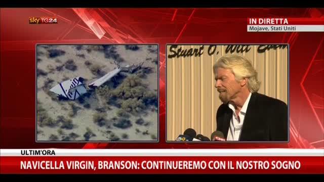 """Navicella Virgin, Branson: """"Continueremo col nostro sogno"""""""