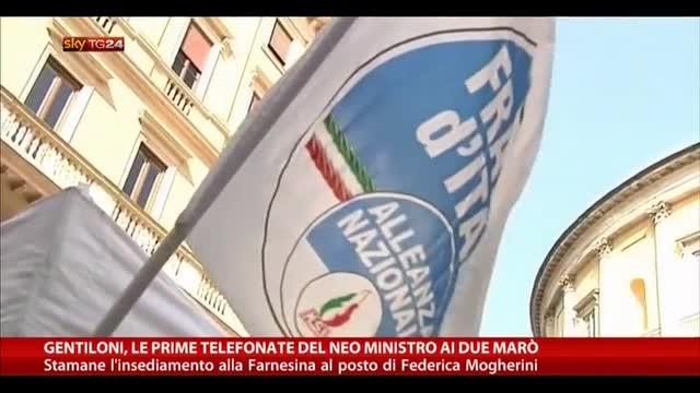 Gentiloni, le telefonate del neo ministro ai due marò