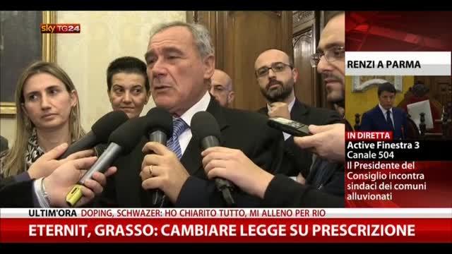 """Eternit, Grasso: """"Cambiare legge su prescrizione"""""""