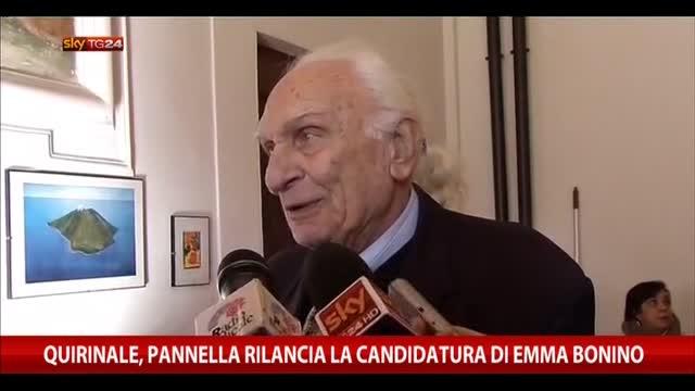 Quirinale, Pannella rilancia la candidatura di Emma Bonino