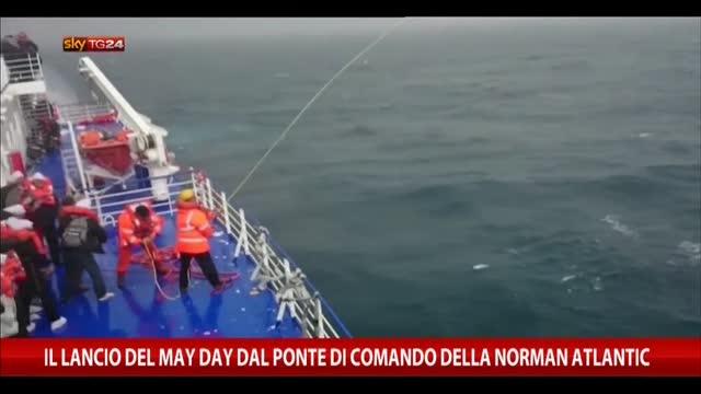 Norman Atlantic, il lancio del May Day dal ponte di comando