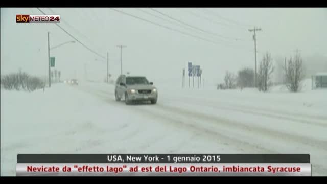 """Usa, nevicate da """"effetto lago"""" ad est del Lago Ontario"""