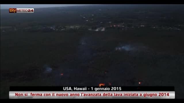 Hawaii, non si  ferma l'avanzata lava iniziata a giugno 2014