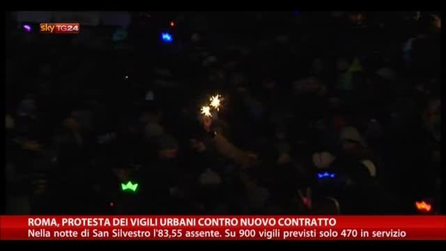 Roma, protesta vigili urbani contro nuovo contratto