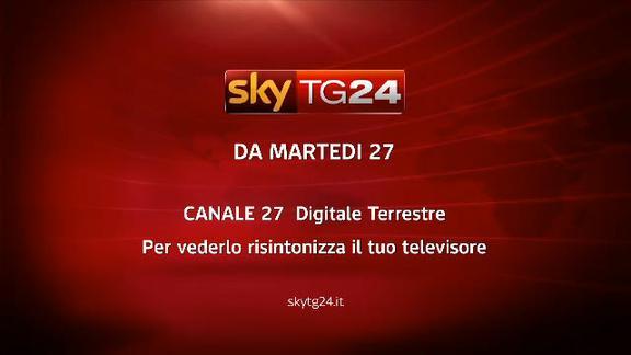 Un nuovo Sky TG24 sul canale 27 del digitale terrestre