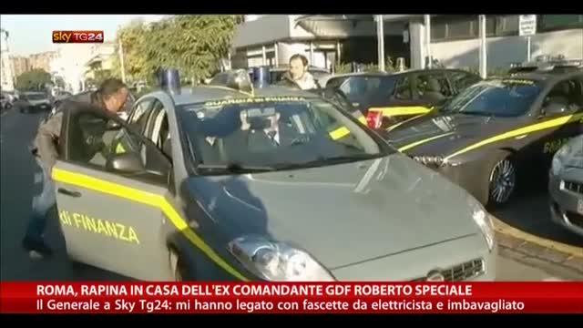 Roma rapina in casa dell'ex comandante GDF Roberto Speciale