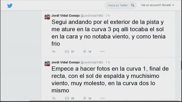 Alonso, su Twitter il racconto di un fotografo testimone