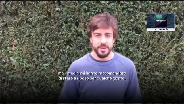 "Alonso: ""Presto in pista, sto benissimo"""