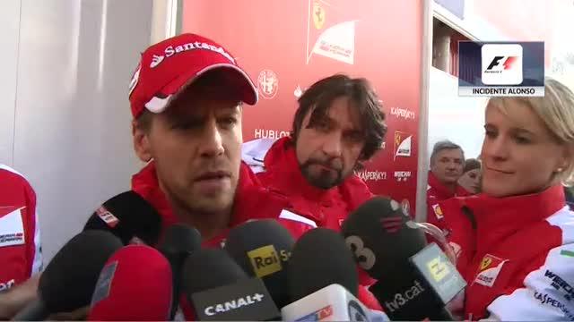 Incidente Alonso. Le parole di Vettel che era dietro Alonso