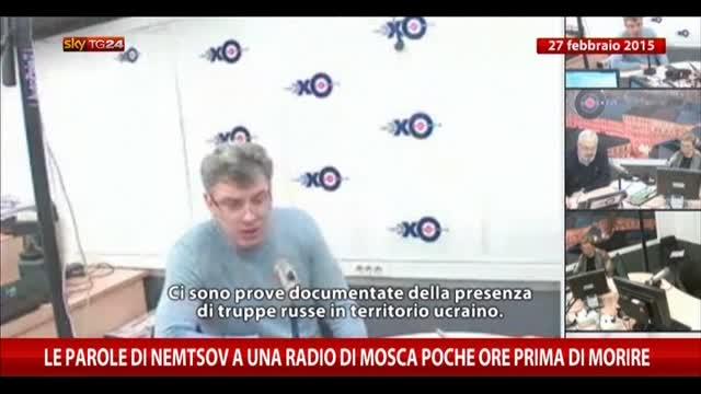 Nemtsov a una radio di Mosca poche ore prima di morire
