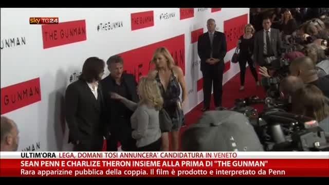 Sean Penn e Charlize Theron insieme alla prima di The gunman