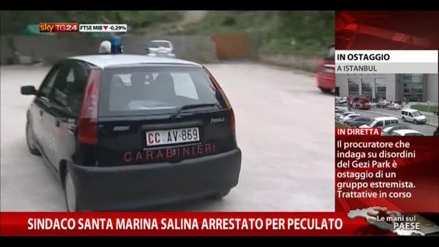 Sindaco Santa Marina Salina arrestato per peculato