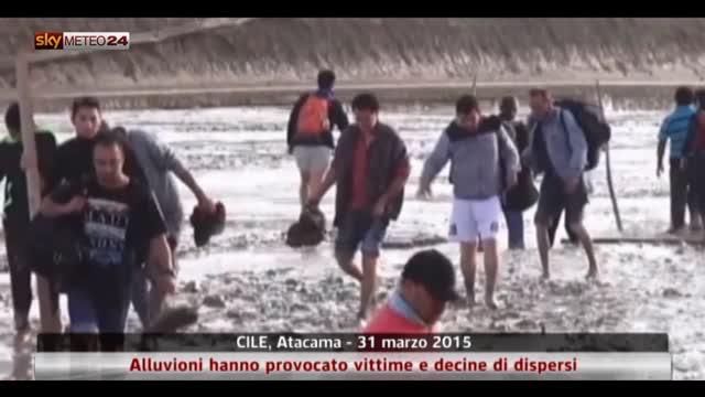 Cile, alluvioni hanno provocato vittime e decine di dispersi