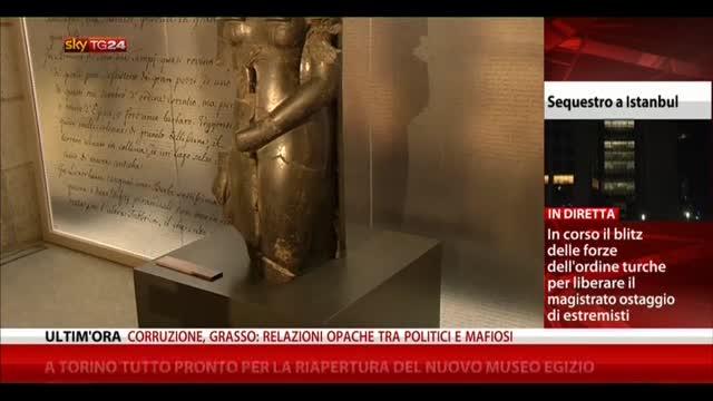 Torino, tutto pronto per riapertura nuovo museo egizio