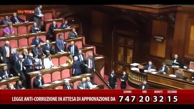 Ddl anticorruzione approvato in Senato: testo alla Camera