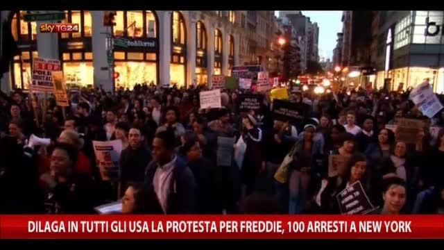 Dilaga in Usa protesta per Freddie, 100 arresti a NY