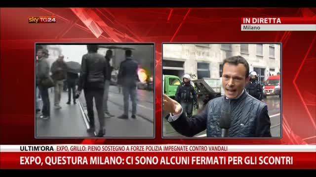 Scontri a Milano, la ricostruzione della Questura