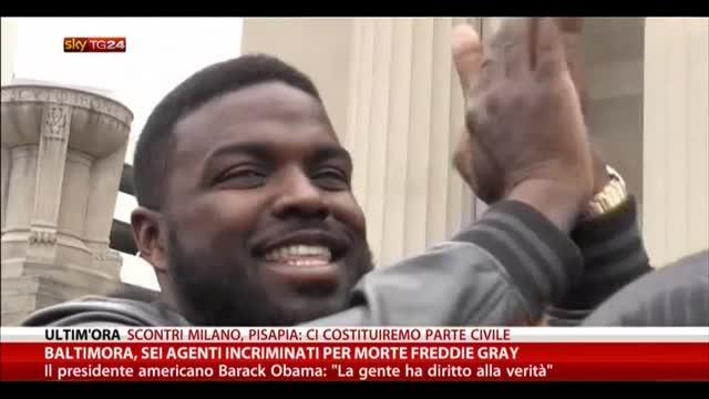 Baltimora, sei agenti incriminati per morte Freddy Grey