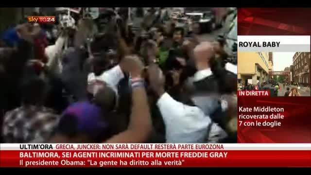 Baltimora, sei agenti incriminati per morte Freddie Gray