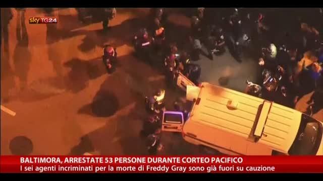 Baltimora, arrestate 53 persone durante il corteo pacifico