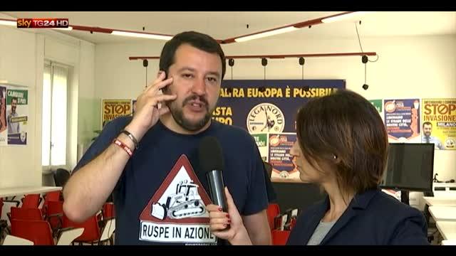 """Salvini: """"Nostro progetto alternativa più seria a Renzi"""""""