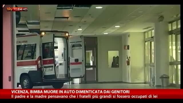 Vicenza: bimba muore in auto dimenticata dai genitori