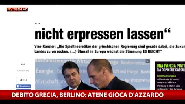 Debito Grecia, Berlino: Atene gioca d'azzardo