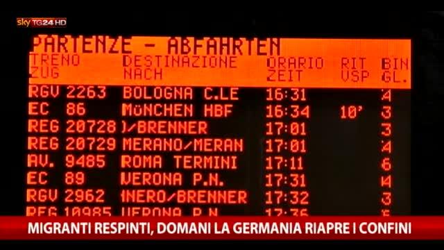 A Bolzano respinti i migranti diretti in Nord Europa