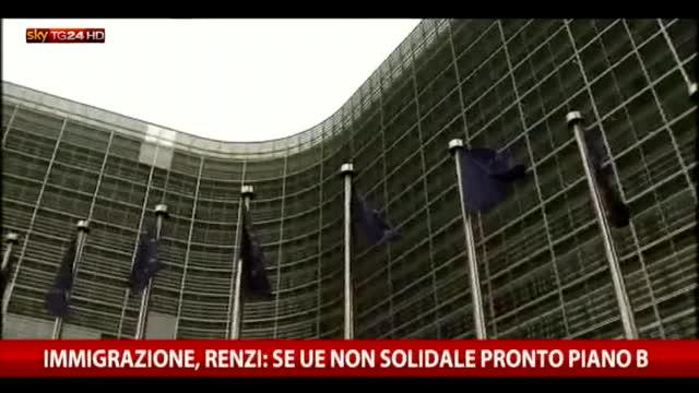 Migranti, Renzi se Ue non solidale pronto piano B