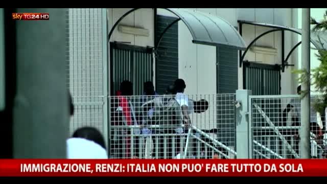 Immigrazione, Renzi  Italia non può fare tutto da sola