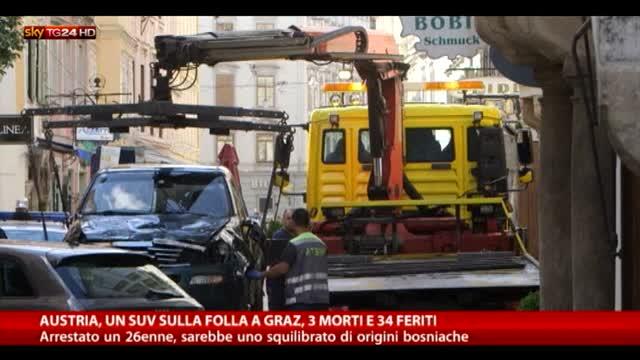 Austria, un Suv sulla folla a Graz: 3 morti e 34 feriti