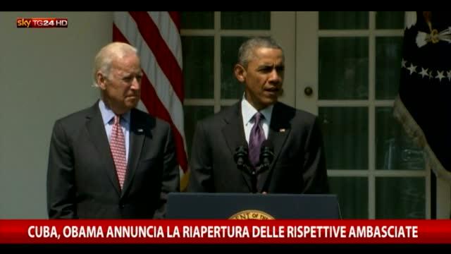 """Obama: """"Aprire ambasciate a Cuba è passo storico"""""""