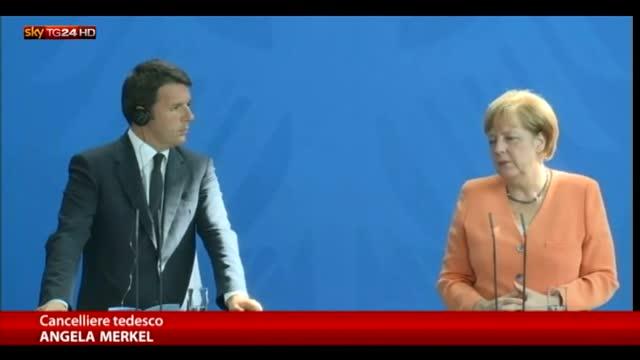 "Merkel: ""Programma di Renzi ambizioso"""