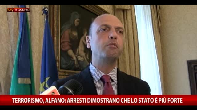 """Alfano: """"Arresti dimostrano che lo Stato è più forte"""""""