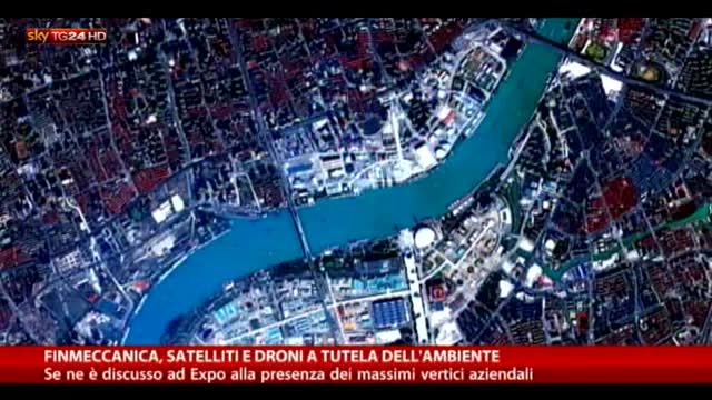 Finmeccanica, satelliti e droni a tutela dell'ambiente