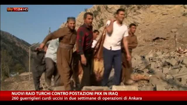 Raid turchi contro il PKK, almeno 260 morti tra i curdi