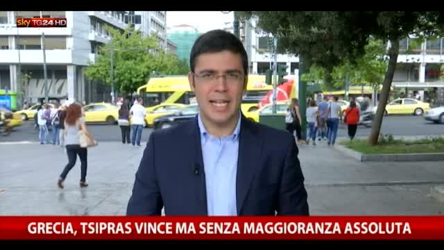 Grecia, Tsipras vince ma senza maggioranza assoluta