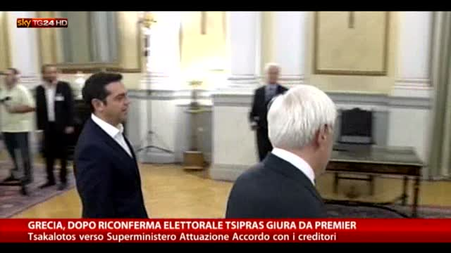 Grecia: dopo vittoria elettorale, Tsipras giura da premier