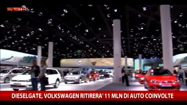 Dieselgate, Volkswagen 'richiama' 11 mln di auto coinvolte
