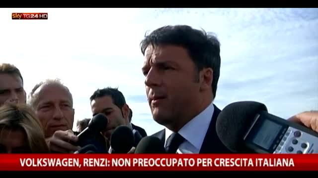 Volkswagen, Renzi: non preoccupato per crescita Italia