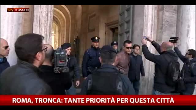 """Campidoglio, Tronca: """"Tante priorità per questa città"""""""