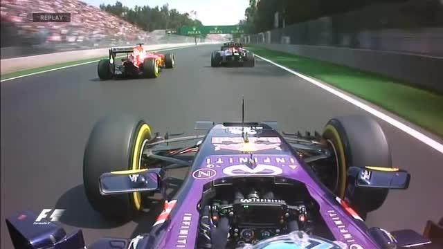 GP Messico: contatto Ricciardo-Vettel al primo giro
